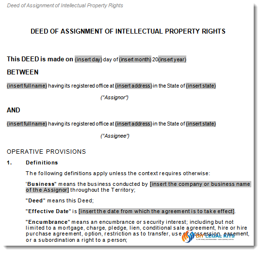 Assignment of Intellectual Property Rights Transfer Agreement