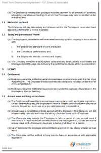 Fixed Term Employment Contract Sample 2