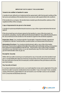 SA Residential Tenancy Agreement Sample - click to enlarge